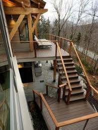 Diy Backyard Deck Ideas Wide Deck Stair Designs Canopy System There Is Still A Nook In