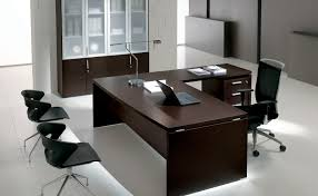 Office Executive Desk Furniture by Executive Desk Wood Veneer Aluminum Glass Odeon By