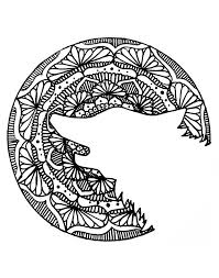 halloween mandala wolf head halloween coloring pages for