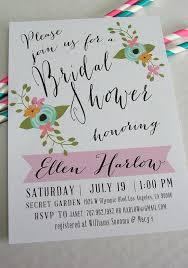 diy bridal shower invitations printable bridal shower invitation diy floral and pink