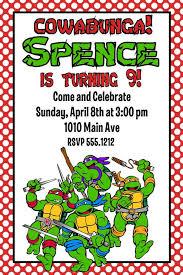 printable ninja turtle birthday invitations cimvitation