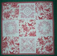 Ideas For Toile Quilt Design Redwork Quilt Patterns Finished My Project For The Week I M