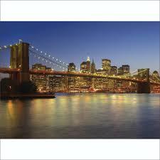 new york brooklyn bridge night wall mural 315cm x 232cm colourful new york brooklyn bridge night wall mural 315cm x 232cm