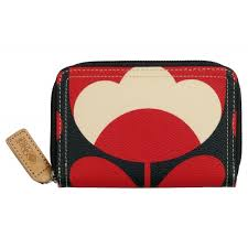 bloom wallet orla kiely bloom medium zip wallet purse ruby