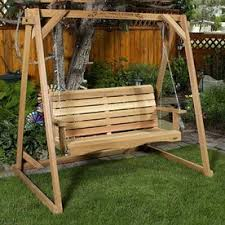 freestanding porch swing frame plans diy free download simple