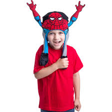 spiderman halloween costumes marvel spiderman flipeez action hat with movable arms walmart com