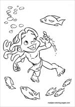 young tarzan coloring pages