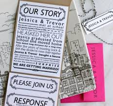 Personalized Wedding Invitations Custom Wedding Invitations Photos And Black Fonts And White With