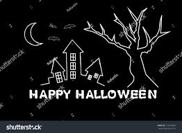 scribble sketches halloween haunted house stock illustration