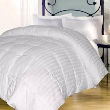 majesty damask stripe 350 thread count down alternative comforter