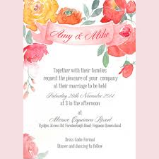 wedding invitations queensland floral watercolour wedding invite central queensland weddings