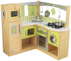 pretend kitchen costway wood kitchen toy kids cooking pretend