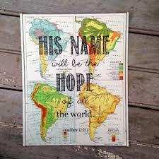 Vintage Map His Name Vintage Map Scripture Print Love For Lulah Shop
