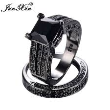 aliexpress buy junxin new arrival black aliexpress buy junxin black gold ring set 925