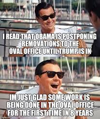 obama trump oval office renovation imgflip