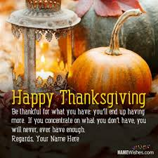 thanksgiving quotes with name