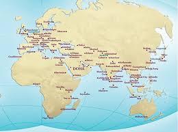 doha qatar map best qatar award flights bookable with united travelsort