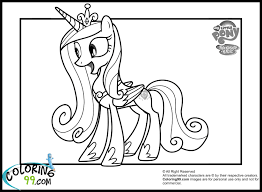 my little pony princess cadence coloring pages my little pony