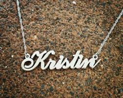 real gold nameplate necklace real gold nameplate etsy