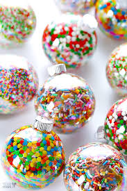 christmas table favors to make candy filled ornaments ornament holidays and craft