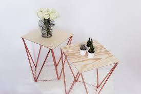 Wohnzimmertisch Platte Beistelltisch Selber Bauen Aus Kupfer Kreative Bauanleitung