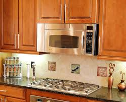 tiles backsplash espresso cabinets with granite ways
