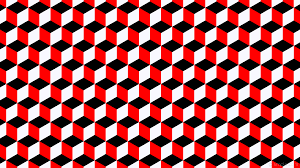 wallpaper white 3d cubes red black 000000 ff0000 f8f8ff 0 218px
