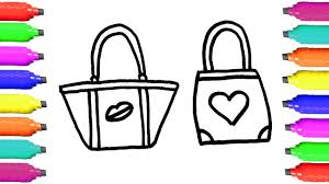 how to draw u0027s bags coloring pages art colors for children