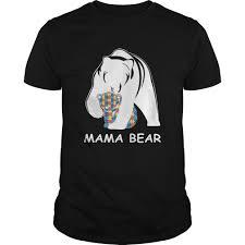 2017 autism awareness mom mama bear tshirt 100 cotton 30