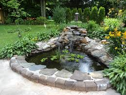 Small Garden Pond Ideas Cool Small Garden Pond With Decorative Klubicko Org