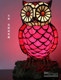 Owl Table Lamp 2018 Tiffany Night Lamps With Owl Style Table Lamp Ysl Td0102 From