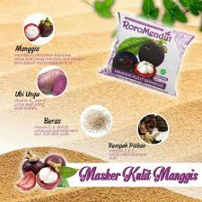 Masker Kulit Manggis Roro Mendut masker antioksidan kulit manggis roro mendut dera