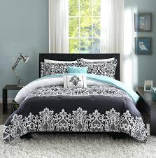 Black And Silver Bed Set All Black Comforter Set Queen Piece Velvet Coccinelleshow Com
