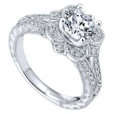flower engagement rings engagement ring 14k white gold flower halo with