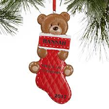 baby s personalized ornaments teddy