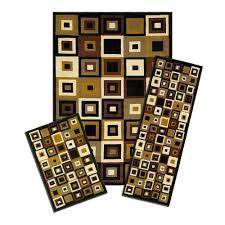 5 Piece Bathroom Rug Set by Capri Capri Southwest Tiles 5 Ft X 7 Ft 3 Piece Rug Set 5444 373