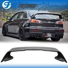 mitsubishi evo spoiler nice great fit 2008 2015 mitsubishi lancer evo 10 abs matte black