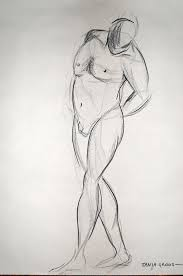 live model sketches only 5 minutes to draw tanja groos artist