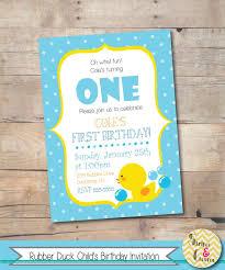 rubber duck birthday invitation u2013 boys first birthday first