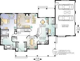 4 bedroom ranch floor plans house plan w2671 detail from drummondhouseplans