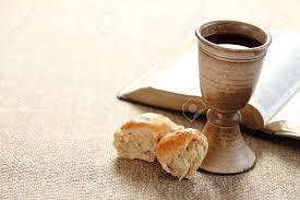 communion bible communion still wine bread and bible stock photo picture