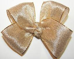 gold metallic ribbon gold lame hair bow metallic ribbon baby toddler pageant wedding