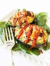 baked egg u0026 avocado bowls u2014 the skinny fork