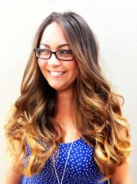 Color Extensions For Hair by Ombre Balayage French Sweaping Hand Painting Highlights