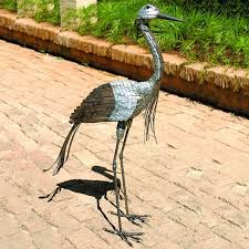 captivating crane garden sculpture bird garden ornaments