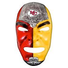 Chiefs Halloween Costumes Kansas Chiefs Franklin Sports Fan Face Mask Target