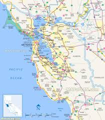 Sf Bart Map Map Of San Francisco And Surrounding Cities Michigan Map
