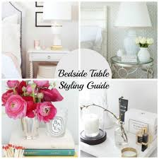 how to style a bedside table home improvement thursday the