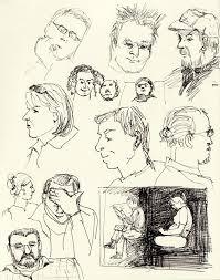 doodleheads subway sketching patience jana bouc artist