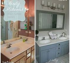 bathroom vanity makeover ideas bathroom oak vanity makeover with paint bathroom ideas